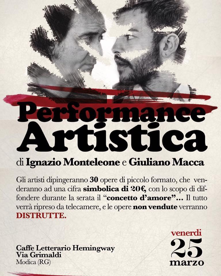 locandina performance